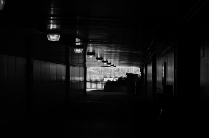 the dark corridors of San Jose's Diridon Station