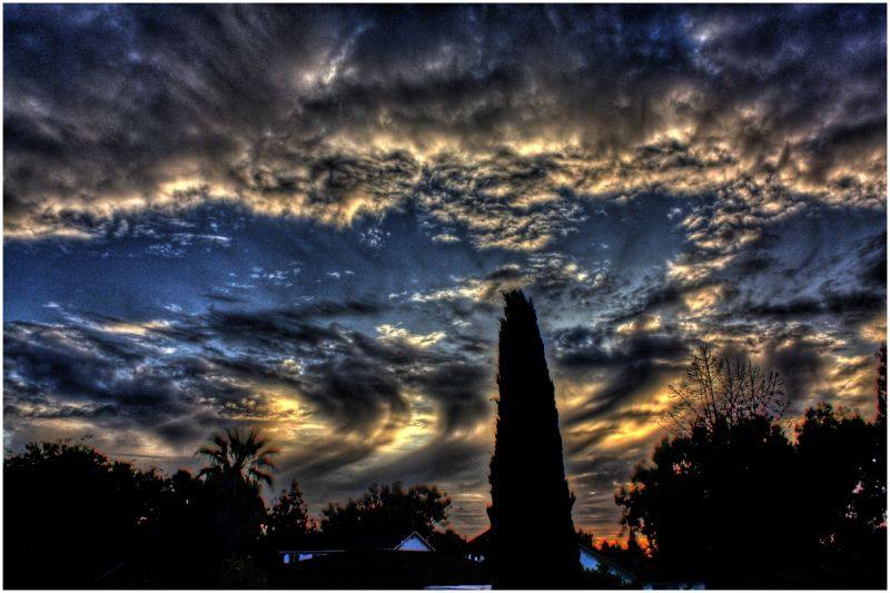 hdr sunset