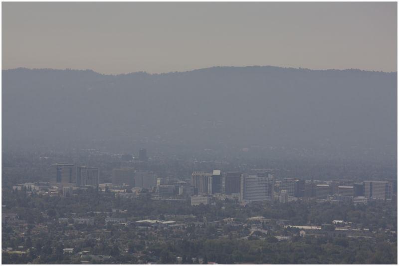 smog over san jose