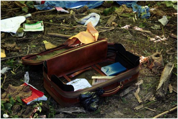 Suitcase at Golden Gate Park