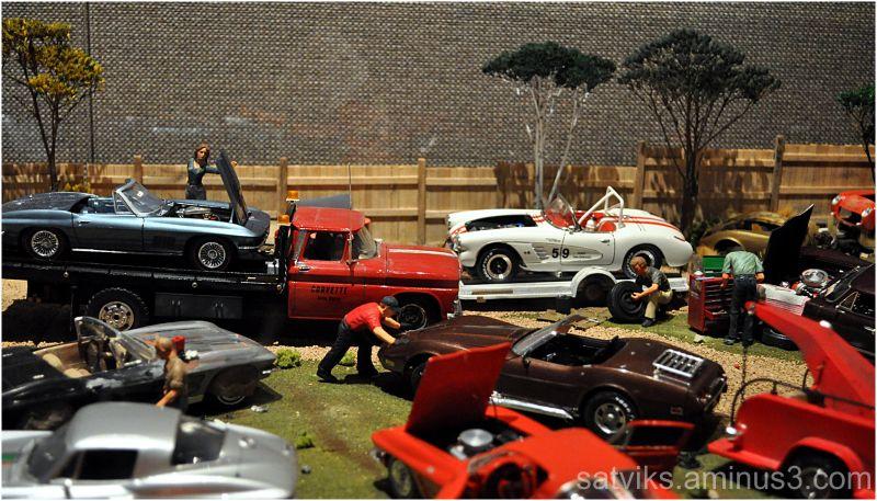 At the Corvette service center