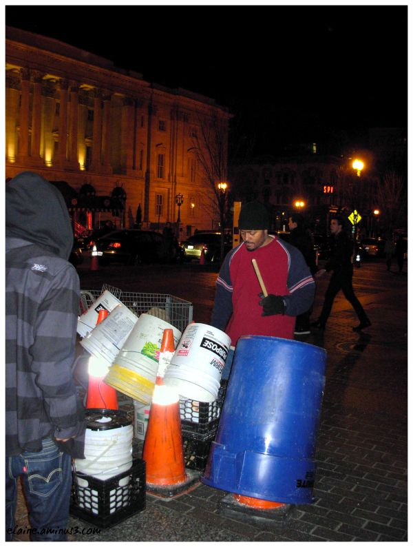 bucket drummer