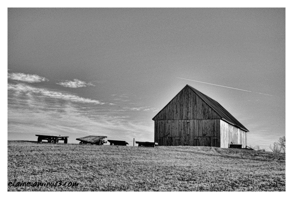 barn and trailers