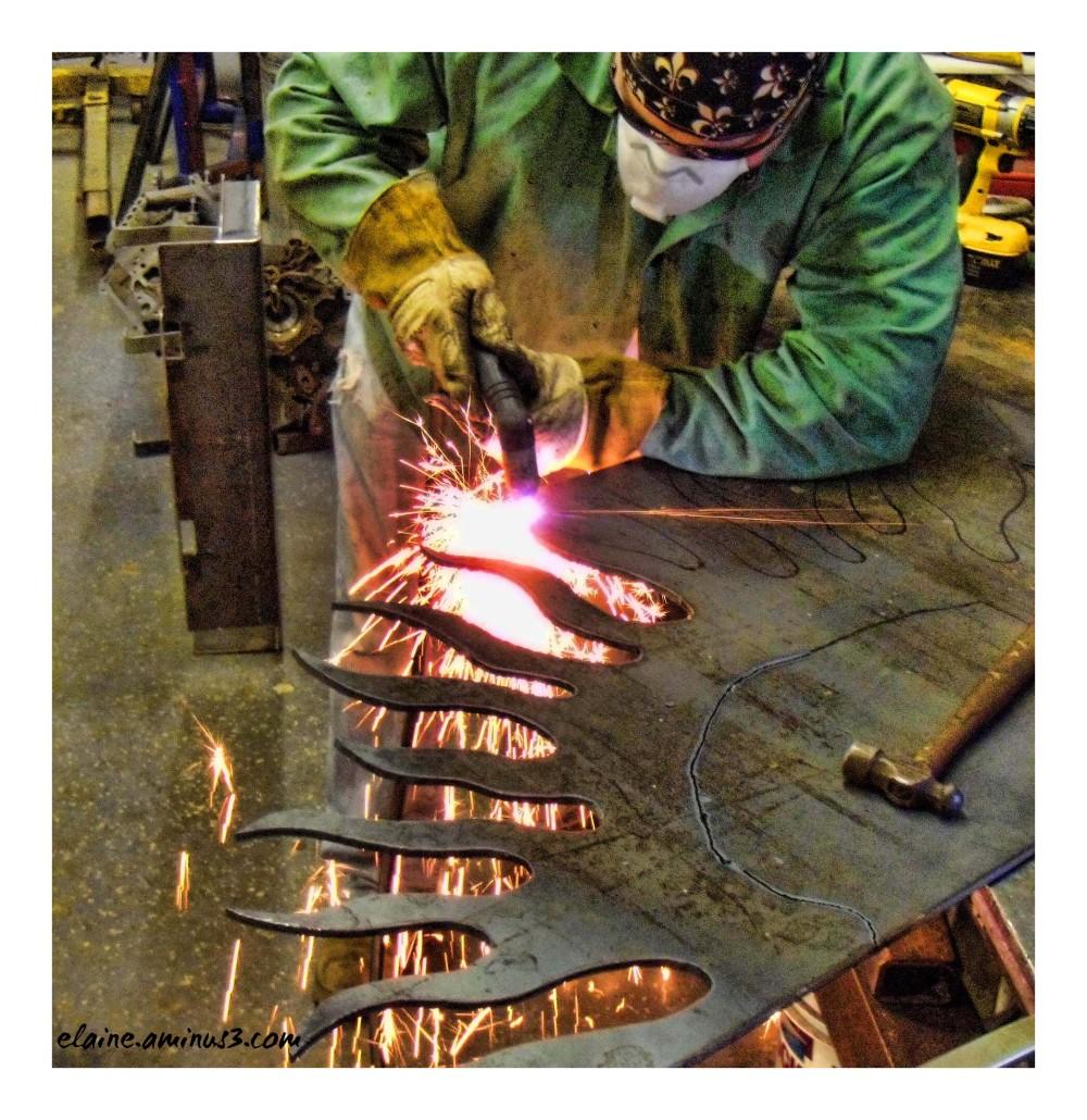 making flames
