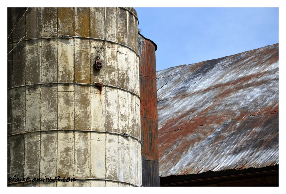 barn roof and silo