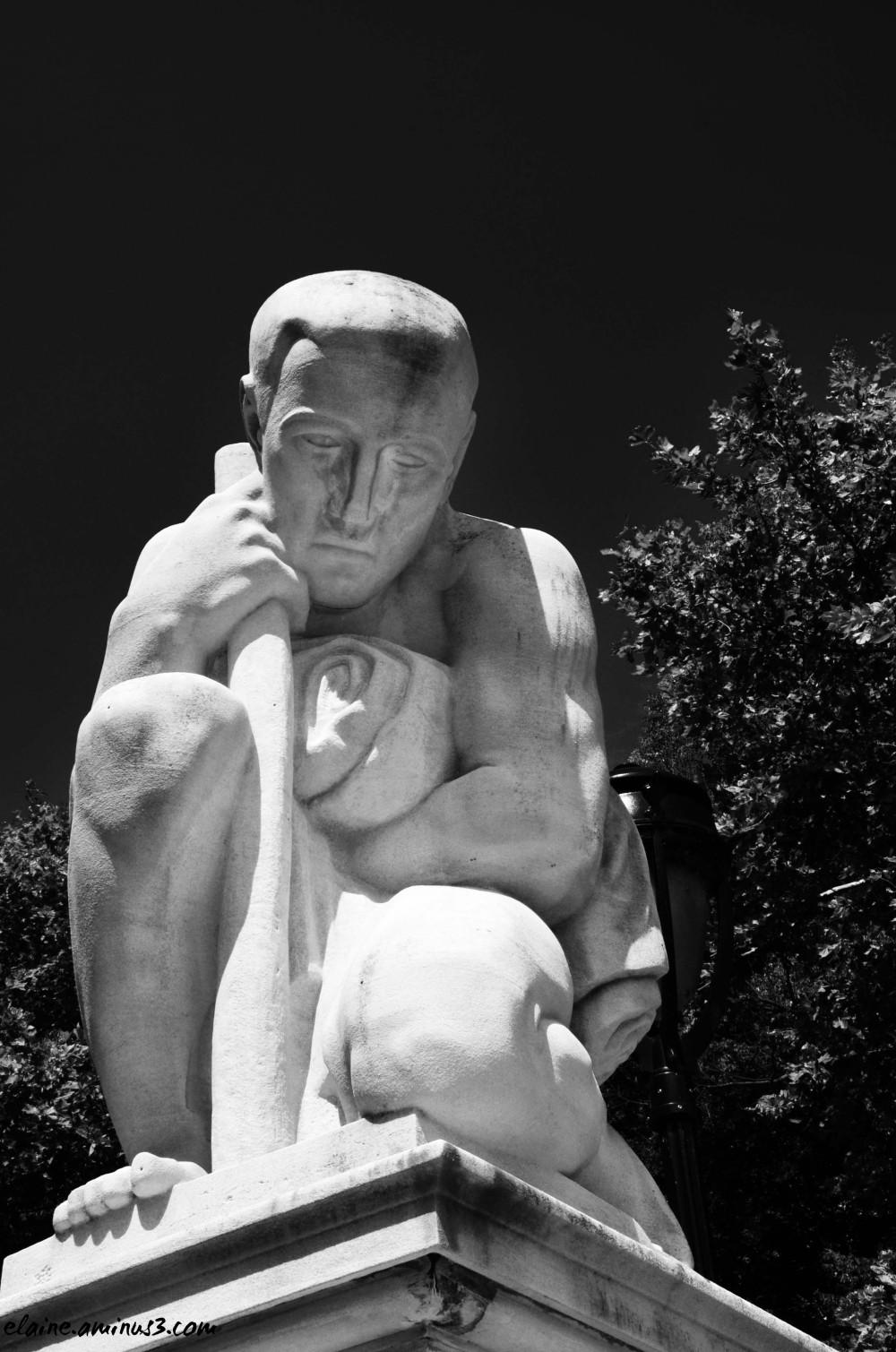 the immigrant sculpture