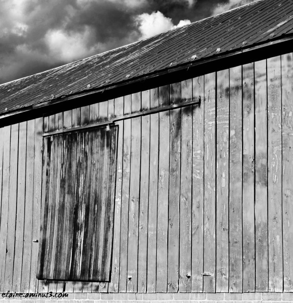 side of barn