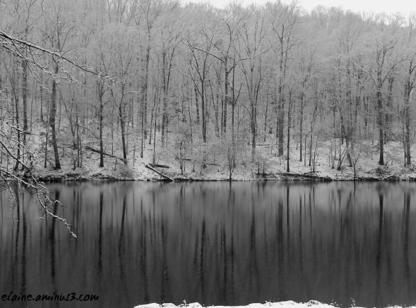 lake needwood snow