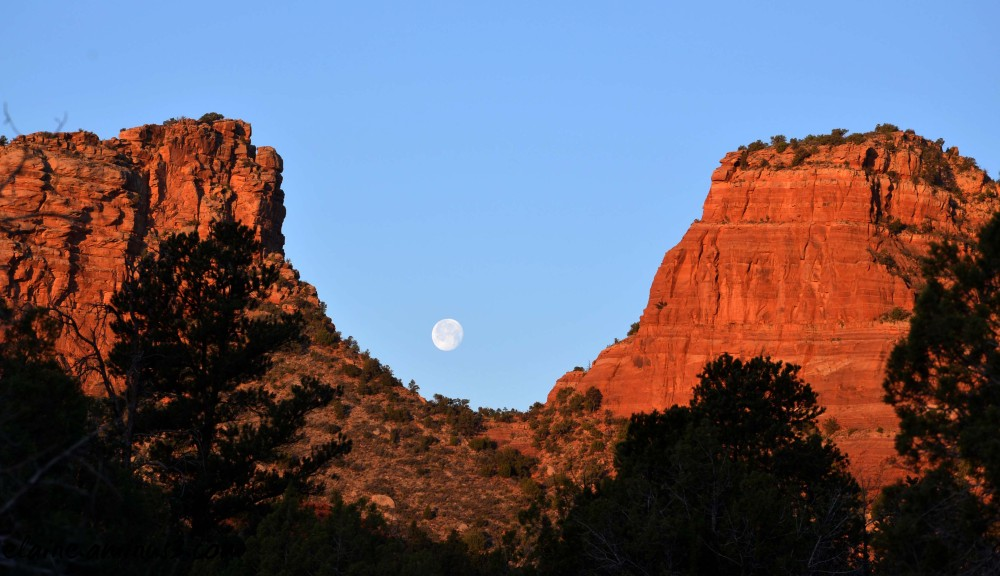 moon set sedona