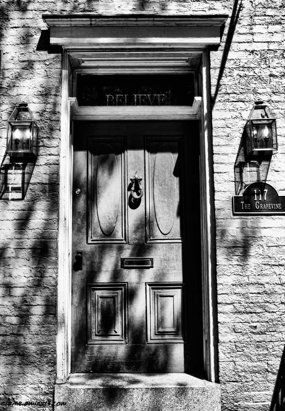 row house door