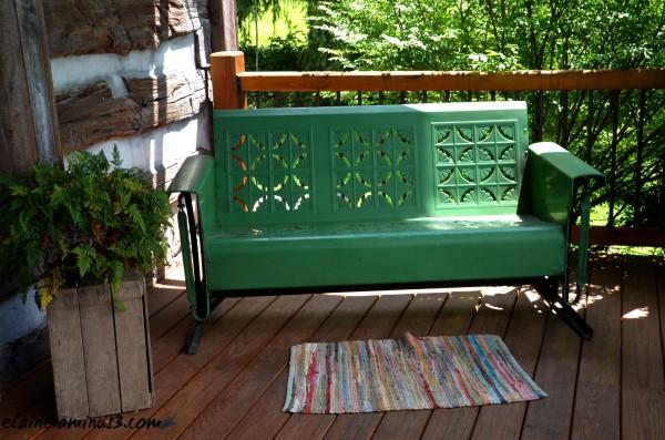 front porch glider