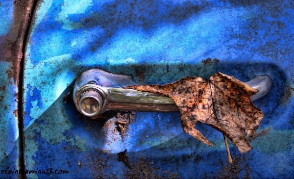 old truck door handle