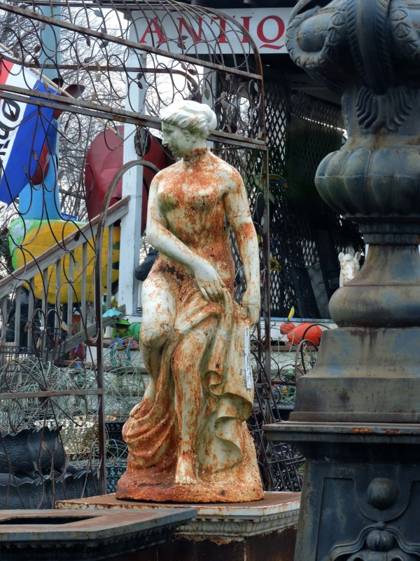rusted statue