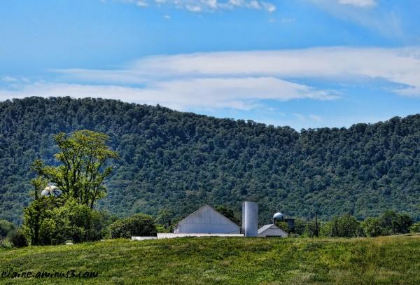 Farm Beyond the Hill