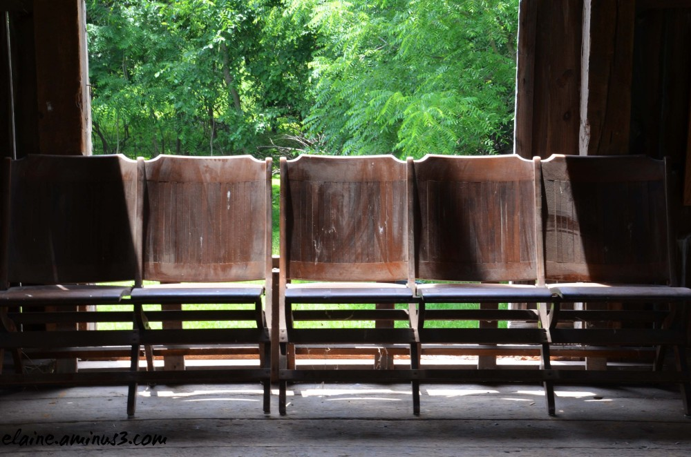 chairs in a barn