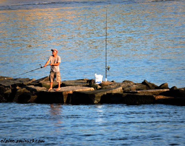 Fishing on the Breakwater