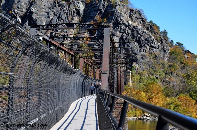 train bridge walkway