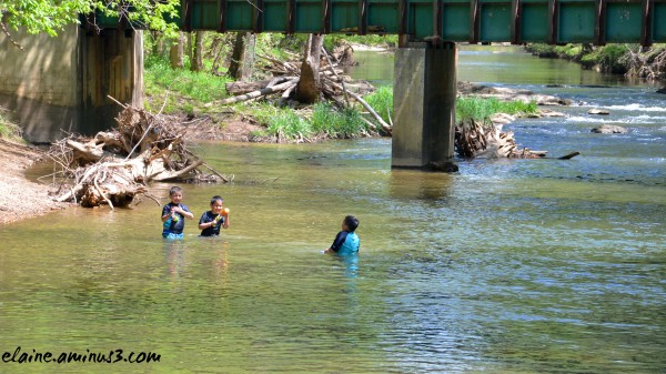 playing in Seneca Creek