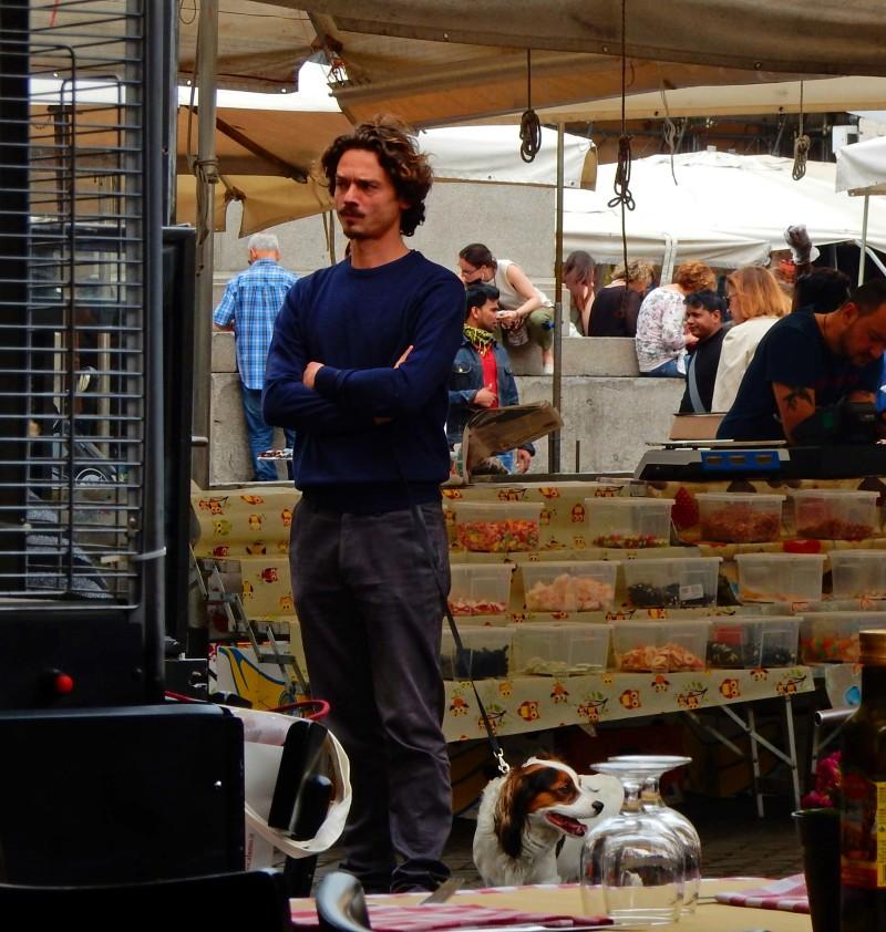 man in market