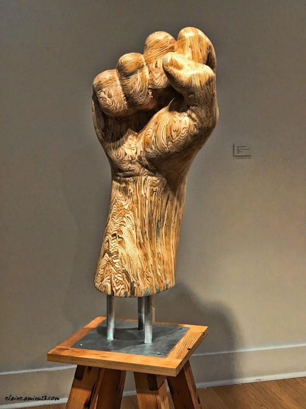 wooden fist