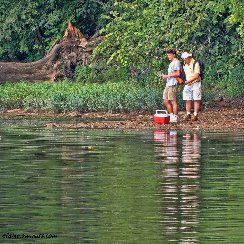 fishing along the Potomac River