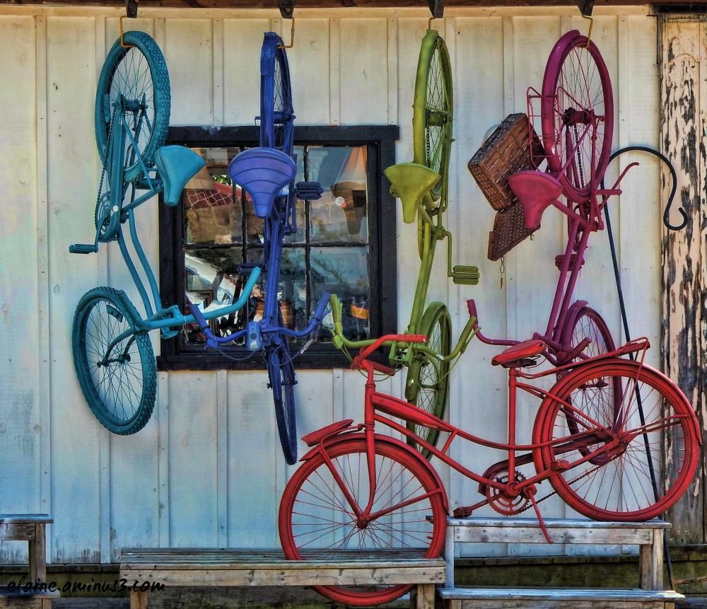 hanging bicycles
