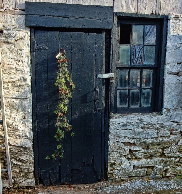 barn door and window