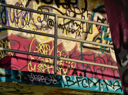Marine Stadium graffiti