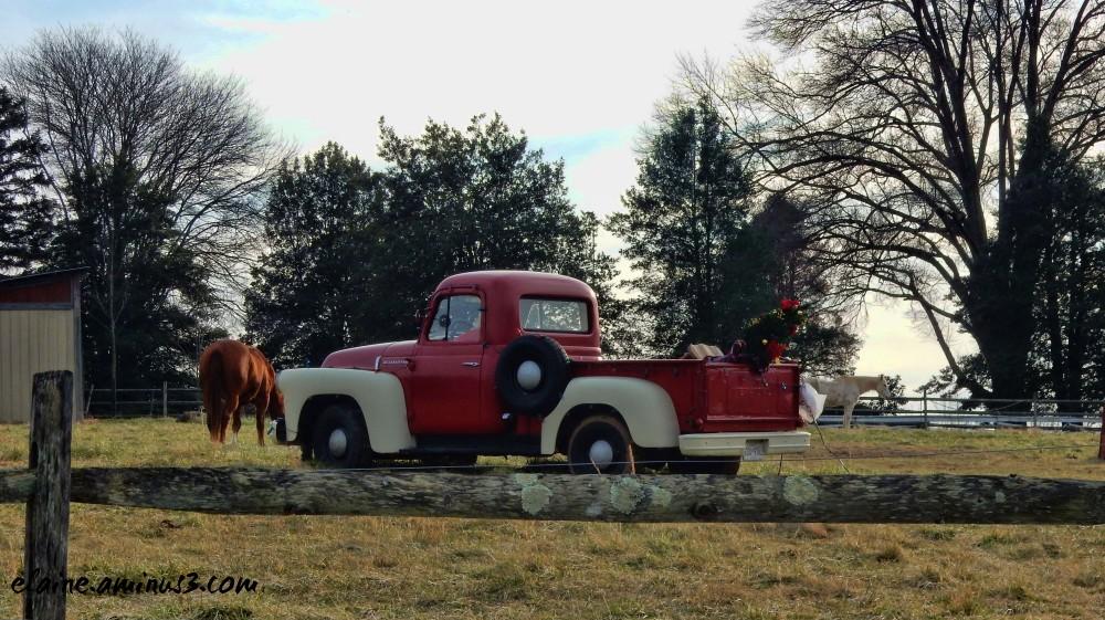 santa and truck