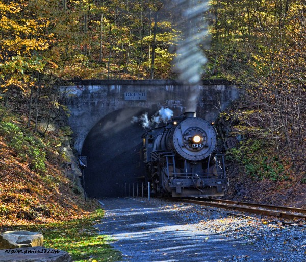 train and tunnel