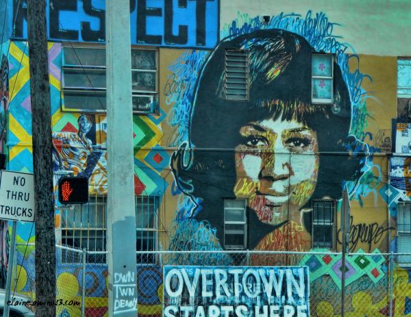 Aretha Franklin mural