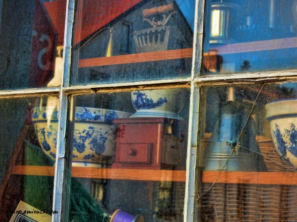 antique store window