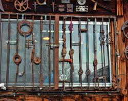 salvage store window