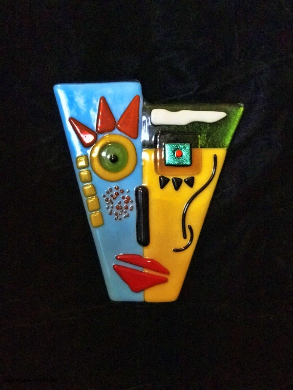fused glass face