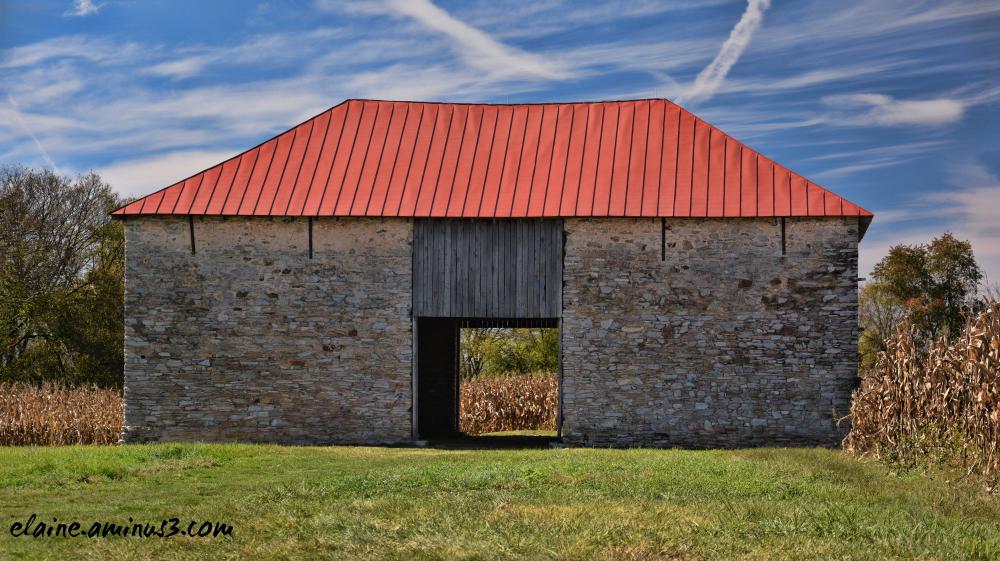 restored threshing barn
