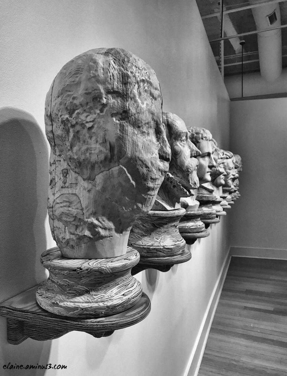 head sculptures