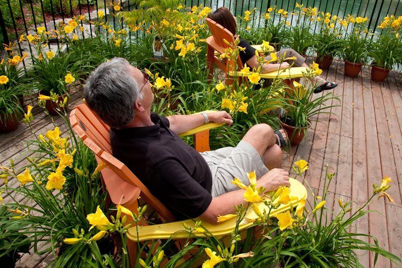 Relaxing in Muskoka Chairs in Niagara