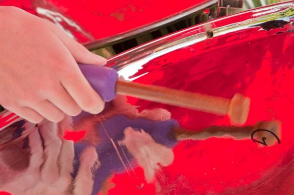 Steel drum playing