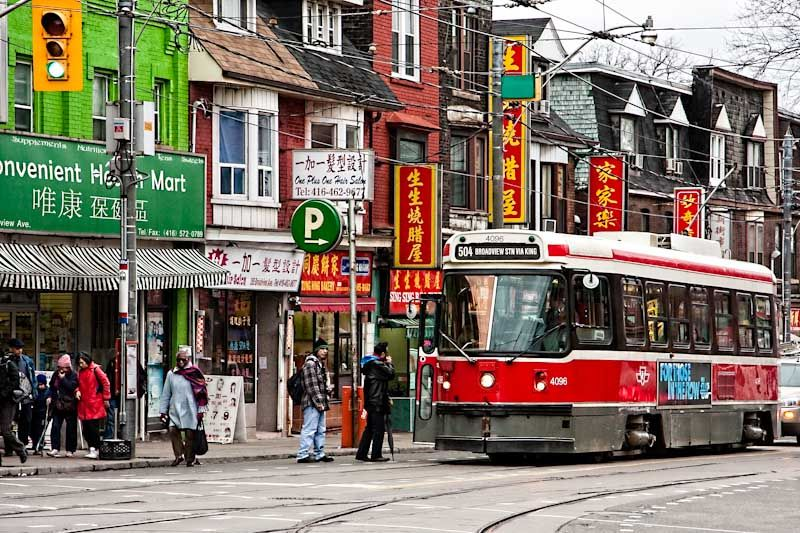 Toronto, streetcar, broadview, Chinatown, urban