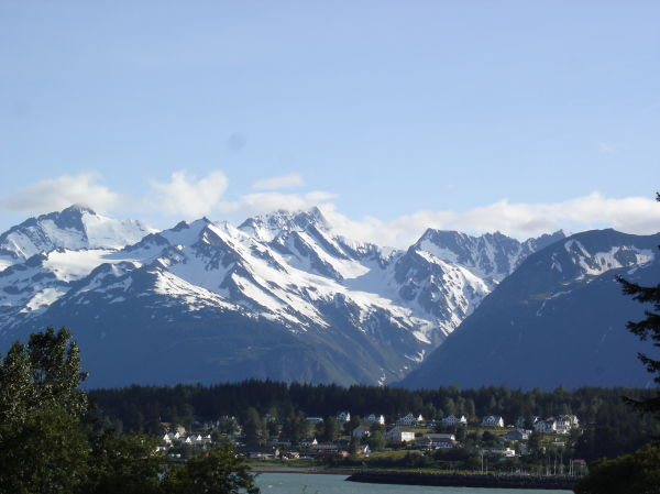 View of Haines, Alaska from Nukdik Point