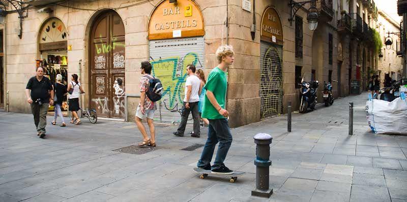 Pl. del Bonsuccés & Sitges Street (Panoramic)