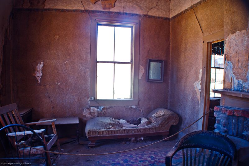 Some ghostly room in Bodie state park, CA