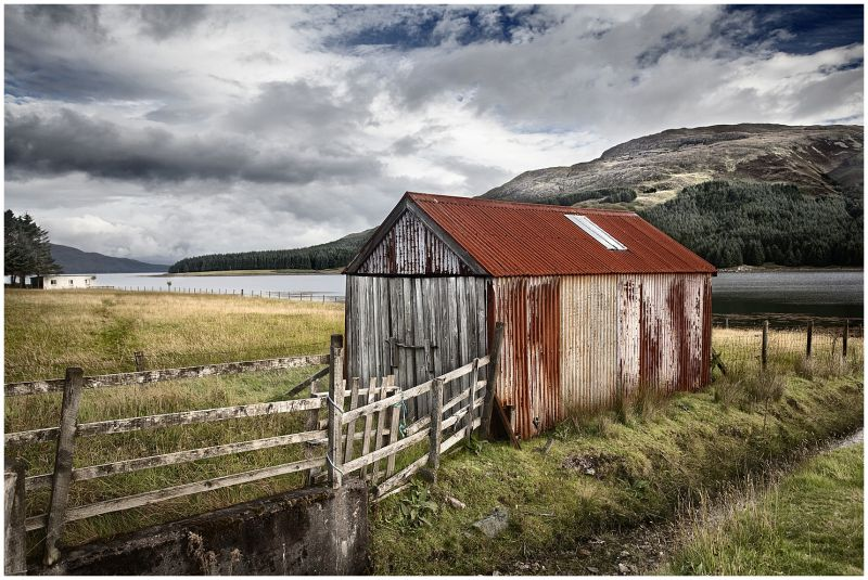 Landscape in Scotland highlands
