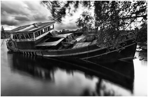 old left boat in loch ness scotland