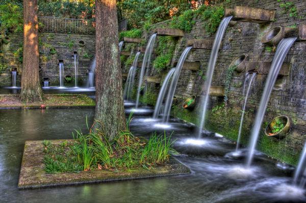 waterfalls planten und blumen in hamburg hdr