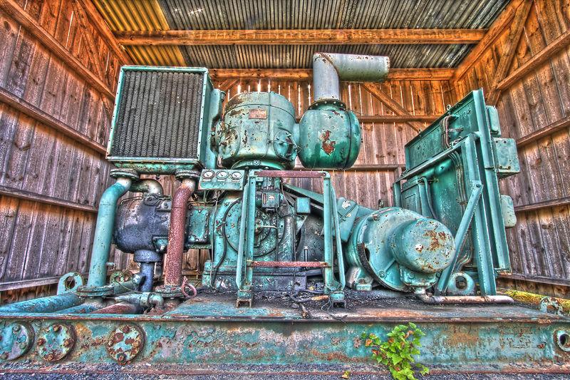 A rusty machine in hdr