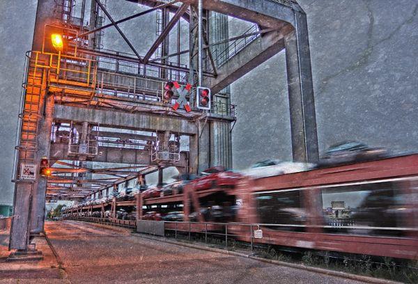 Hamburg habour train