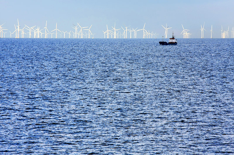 Wind turbines at the Fehmarn Belt