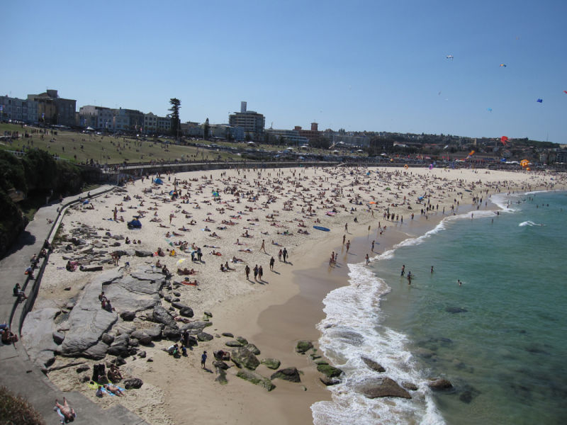 Bondi Beach with Festival of the Wind
