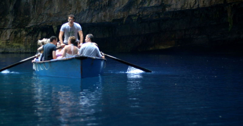 undergrund lake in Kefalonia
